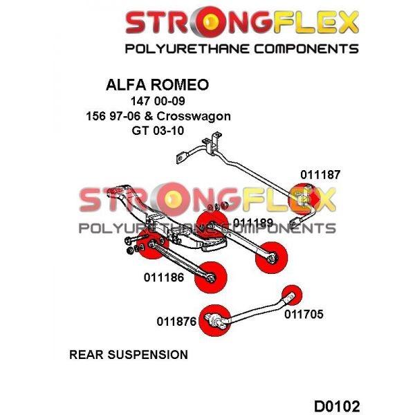 alfa 147 silentbloky zadne