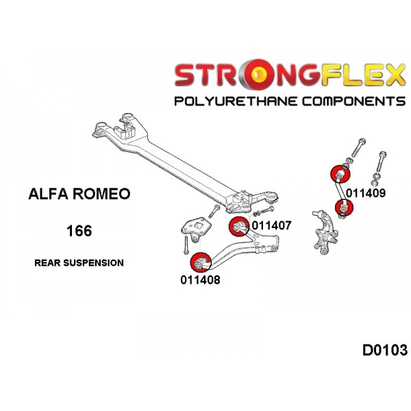 alfa 166 zadne silentbloky
