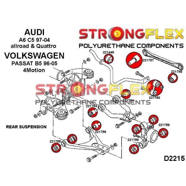 VW Passat B5 4motion zadné silentbloky