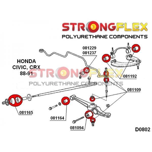 Honda CRX predné silentbloky