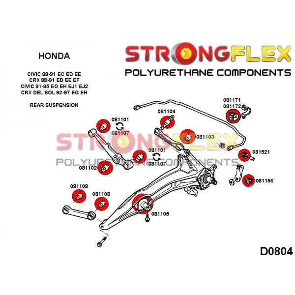 Honda CRX zadne silentbloky