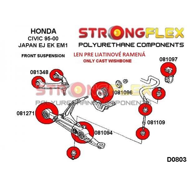 Honda Civic 6 JAP predné silentbloky