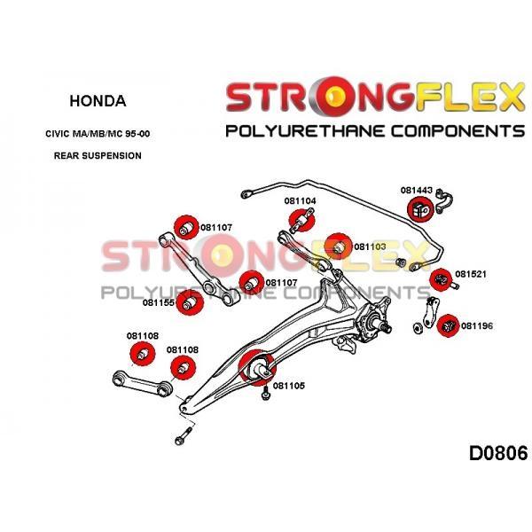 Honda Civic 6 zadne silentbloky