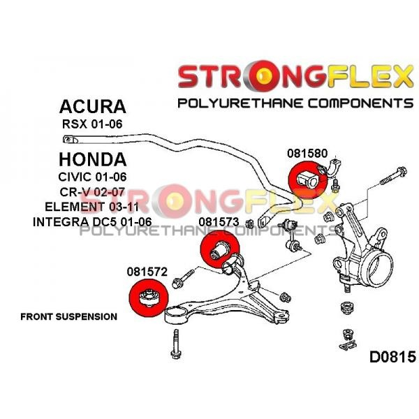 Honda Civic 7 EP predné silentbloky