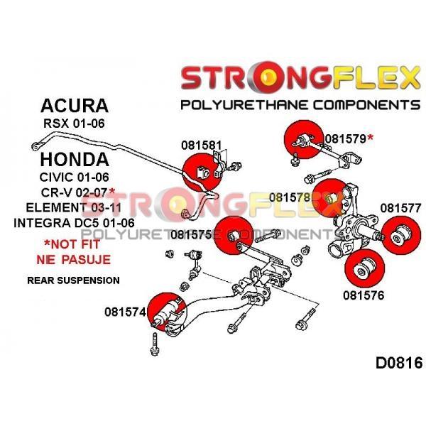 Honda Civic 7 EP zadne silentbloky