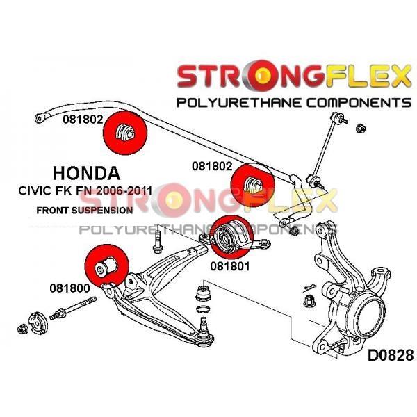 Honda Civic 8 predné silentbloky