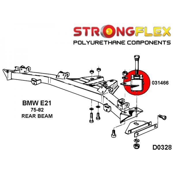 BMW E21 silentbloky diferencialu