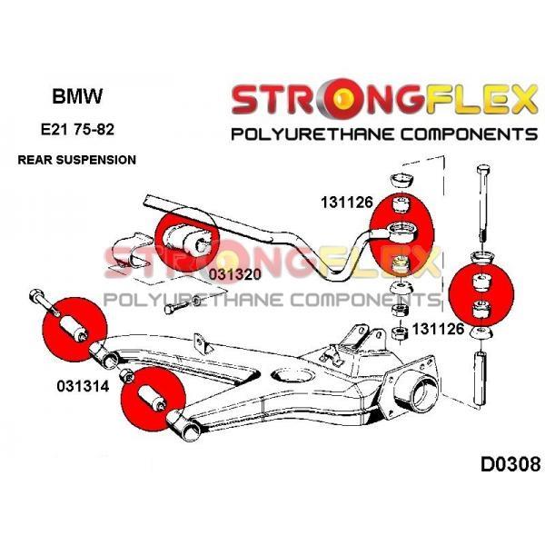 BMW E21 zadne silentbloky
