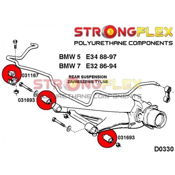BMW E34 zadne silentbloky