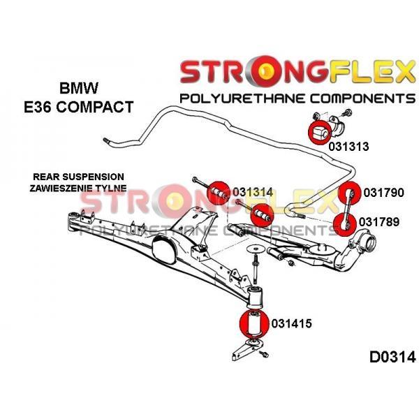 BMW E36 Compact zadne silentbloky
