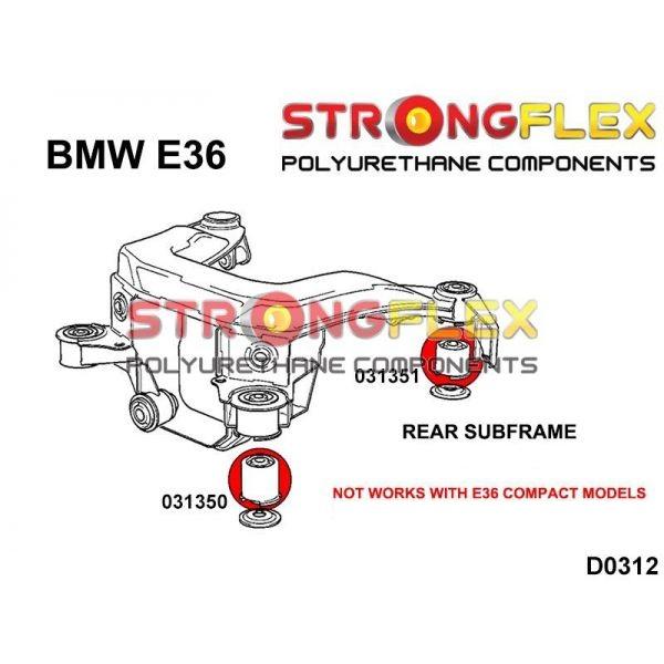 BMW 36 silentbloky diferencialu
