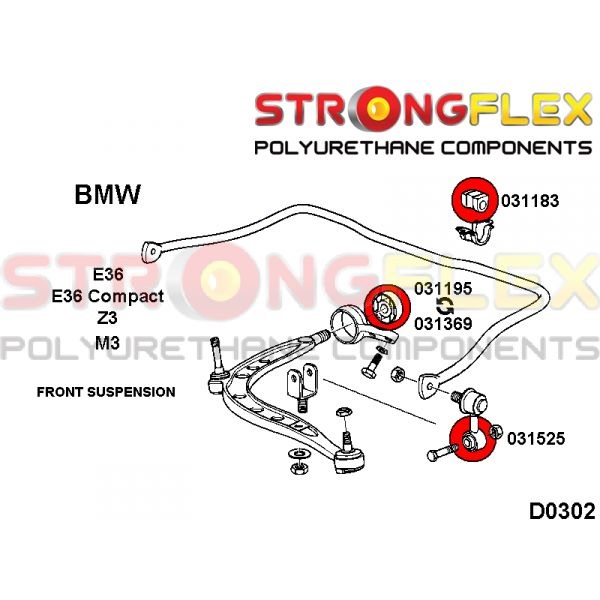 BMW E36 M3 predné silentbloky
