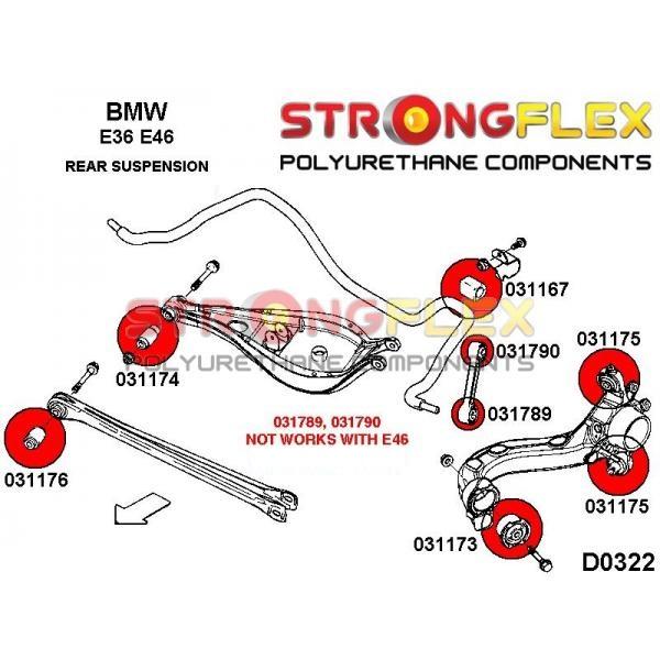 BMW E36 M3 zadné silentbloky