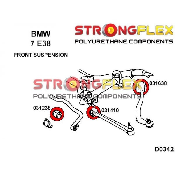 BMW E38 predne silentbloky