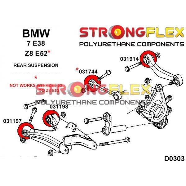 BMW E38 zadne silentbloky