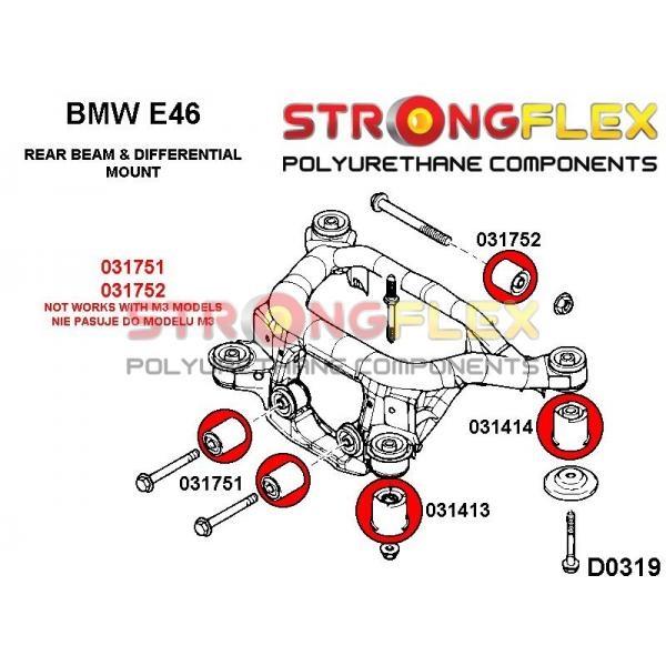 BMW E46 silentbloky nápravnice