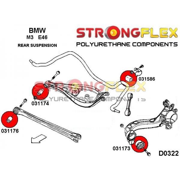 BMW E46 M3 zadne; silentbloky