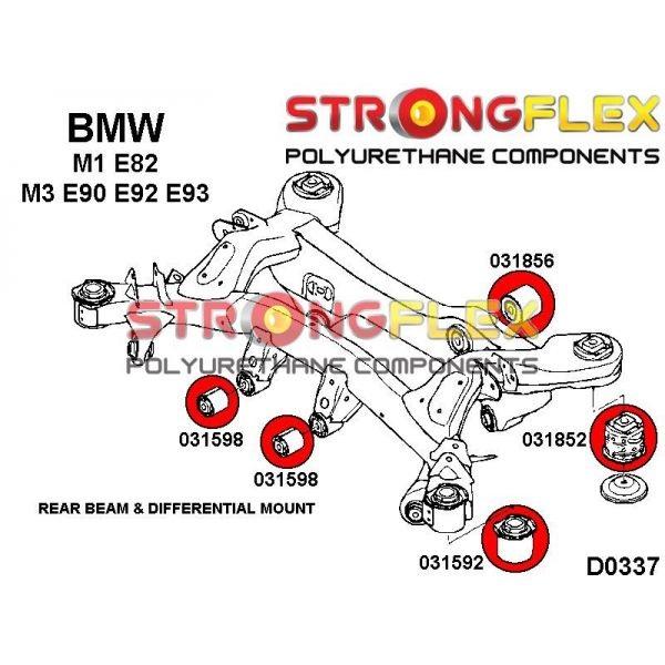 BMW E90 E92 M3 silentbloky diferencialu