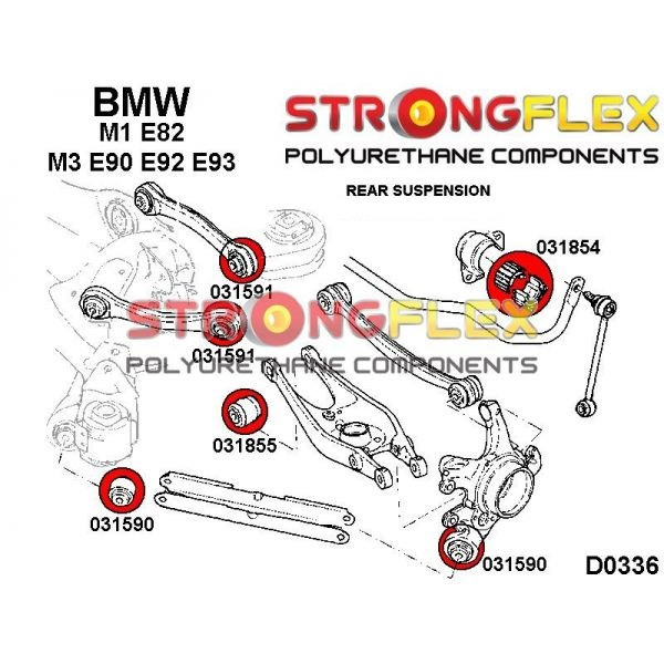 BMW E90 E92 M3 zadne silentbloky