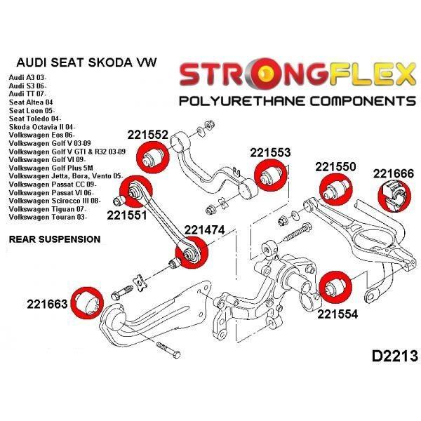 Audi A3 zadne silentbloky
