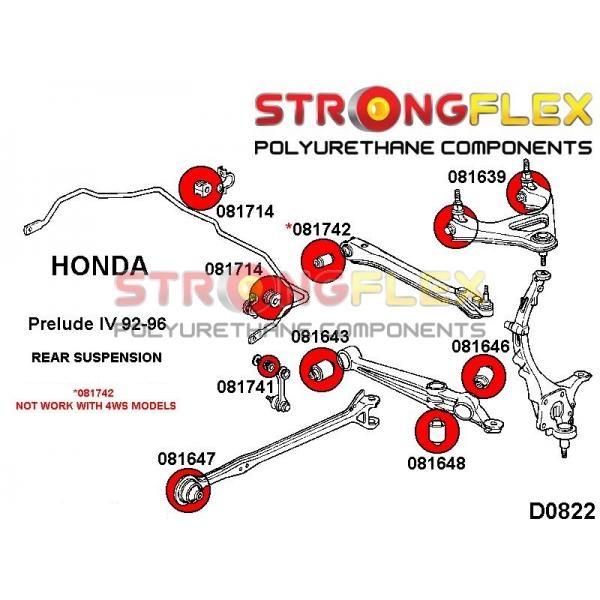 Honda Prelude 4 predné silentbloky