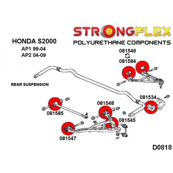 Honda S2000 AP1 zadné silentbloky