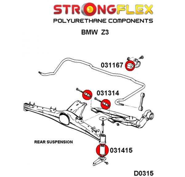 BMW Z3 zadne silentbloky