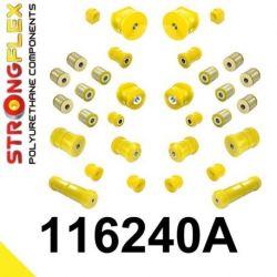 116240A: Kompletná sada silentblokov pruženia W202 SPORT