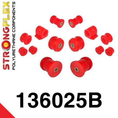 136025B: Predná a zadná náprava Kompletná sada silentblokov silentblokov KOMPLET 16-24mm