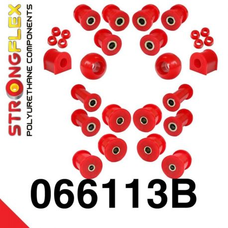 066113B: Fiat 125p Polonez Kompletná sada silentblokov SPORT