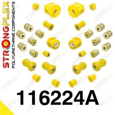 116224A: Sada silentblokov prednej aj zadnej nápravy SPORT