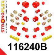 116240B: Kompletná sada silentblokov pruženia W202